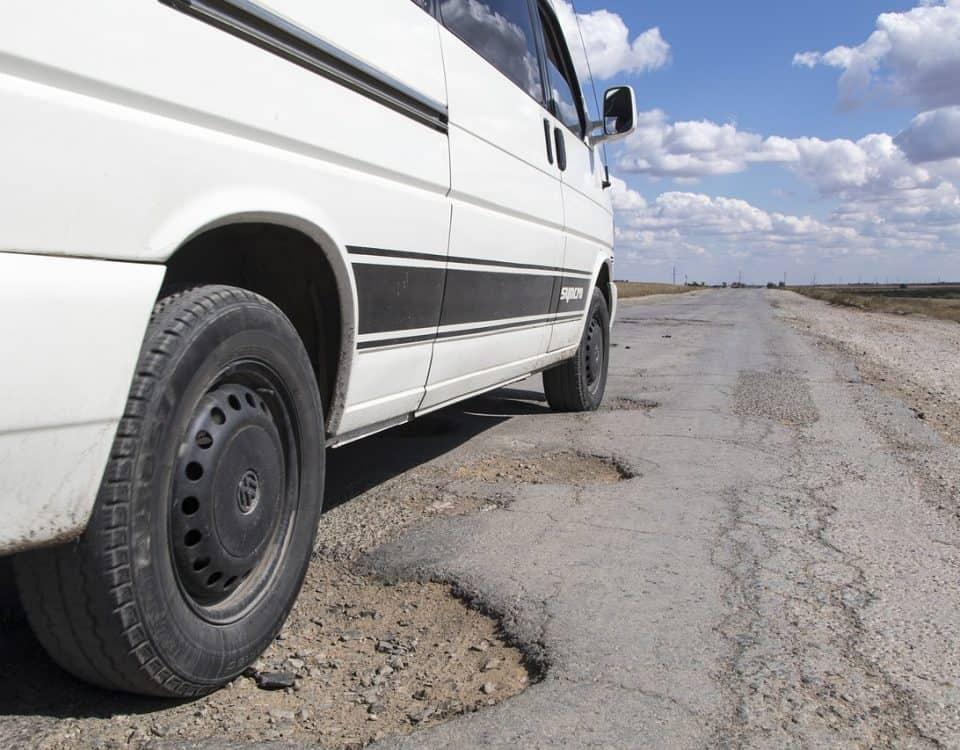 dziury drogowe