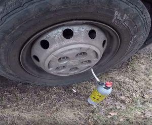 koło zapasowe w sprayu